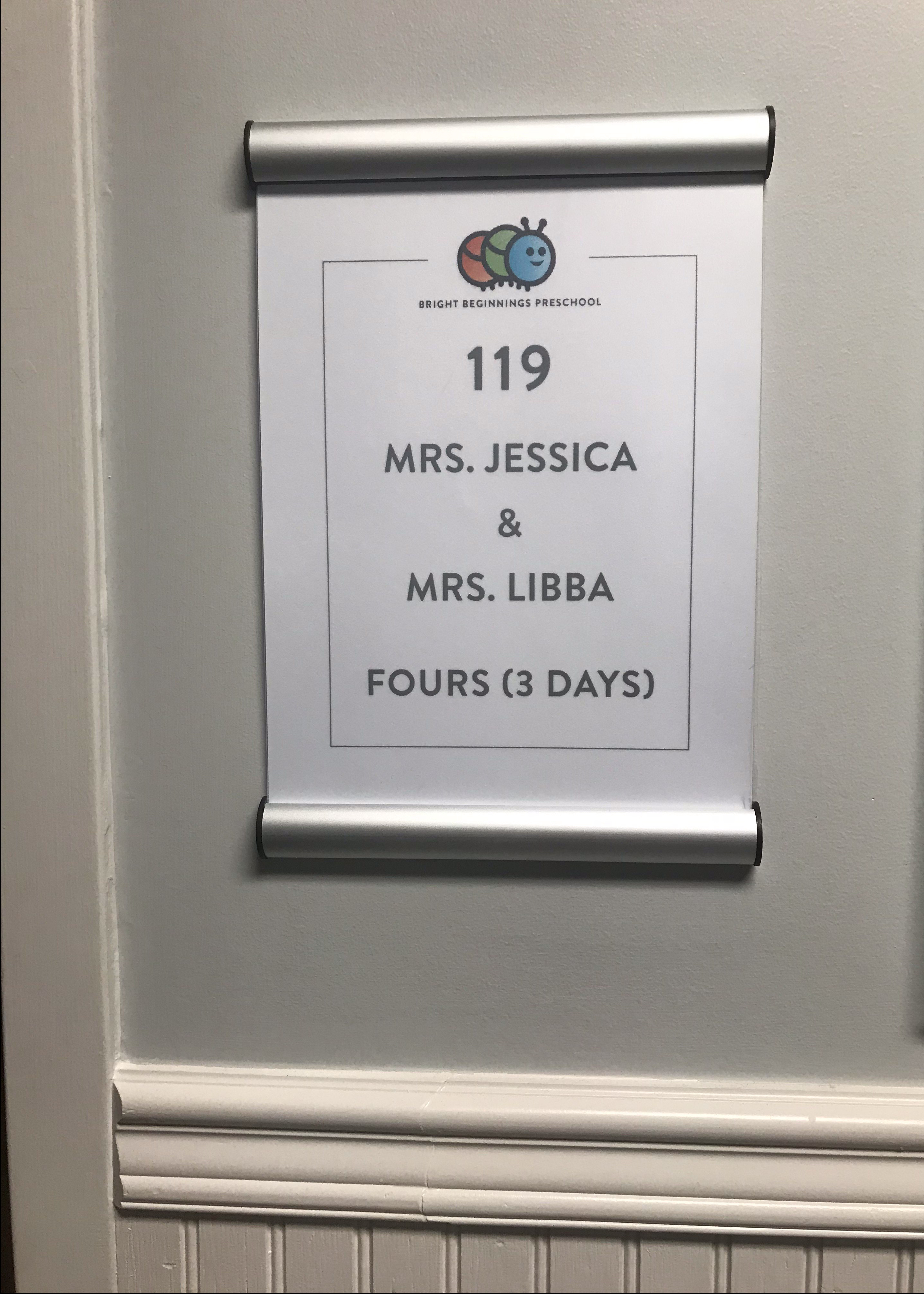 Hallway Class sign - FBCL